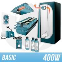 Indoor Hydroponic Kit 400w + Grow Box - BASIC