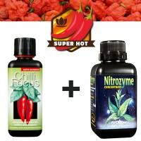 Nutrients Chilli Grow Kit  - 2 x 300ml (Chilli Focus + Nitrozyme)