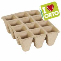 Biodegradable seedbed by Verdemax I LOVE ORTO - 12 cells