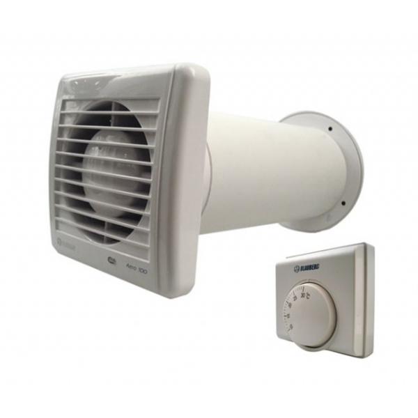Extractor fan kit blauberg aero still 100 ducting kits for Bathroom extractor fan kit