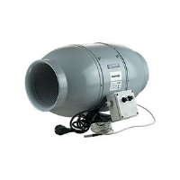 Sound-Insulated Fan Blauberg Iso-Mix - 10cm (233 m3/h) - with Thermostat