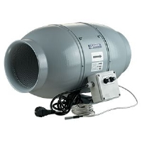 Sound-Insulated Fan Blauberg Iso-Mix - 12,5cm (347 m3/h) - with Thermostat