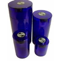 TIGHTVAC Storage Container Ø105mm - 1,3L ( Transparent Blue)