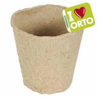Biodegradable round pot by Verdemax -  I LOVE ORTO - Ø cm 6xh5,5