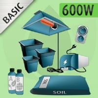 Indoor Grow Kit Soil 600w - BASIC