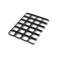 Square Tray PVC + 24 Square Pots 0,4L