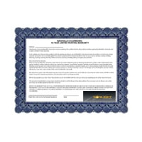 Extended warranty Certificate for Sonlight Electronic Ballasts