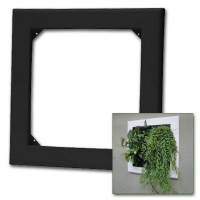 Flowall black square 42x40cm