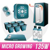 Micro Kit Soil 130W LED + Grow Box - Micro Growing
