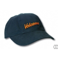 Original Blue Baseball hat with orange logo by Volcano Vaporizer