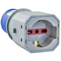 IEC industrial plug 220V  - Shuko Bivalent socket 10/16A