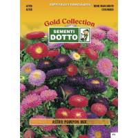 Aster Pompon Mix - Gold Seeds by Sementi Dotto