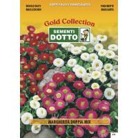 Daisy Double Flower Mix - Gold Seeds by Sementi Dotto