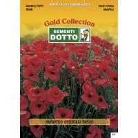 Oriental Red Poppy (Papaver orientale) - Gold Seeds by Sementi Dotto - 0.7gr