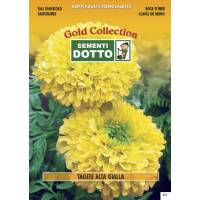 Tall Marigold (Tagetes erecta)  - Gold Seeds by Sementi Dotto 1.8gr