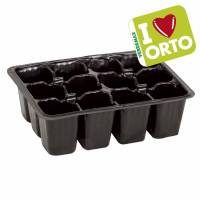 Plastic seedbed by Verdemax I LOVE ORTO - 12 reusable cells