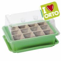 Mini-greenhouse with biodegradable seedbed by Verdemax  - I LOVE ORTO - cm 20x14xh11 - 12 cells