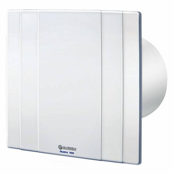 Bathroom Extractor Fans   Blauberg Quatro 100 88 M3/h