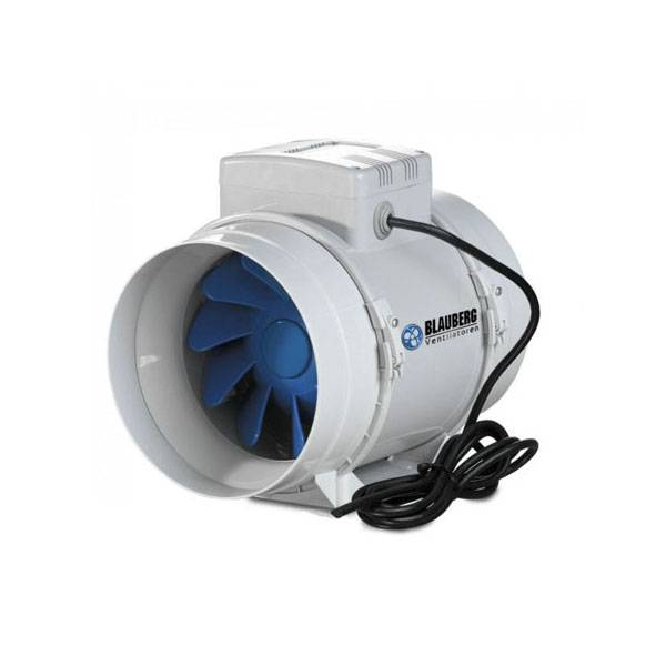 Silenced Fan Blauberg BI-Turbo 12,5cm + cable - 280m³/h