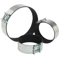 Clamp for round ducts with microporous rubber mm 100