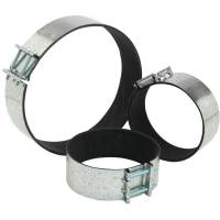 Clamp for round ducts with microporous rubber mm 200