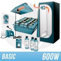 Indoor Hydroponic Kit 600w + Grow Box - BASIC