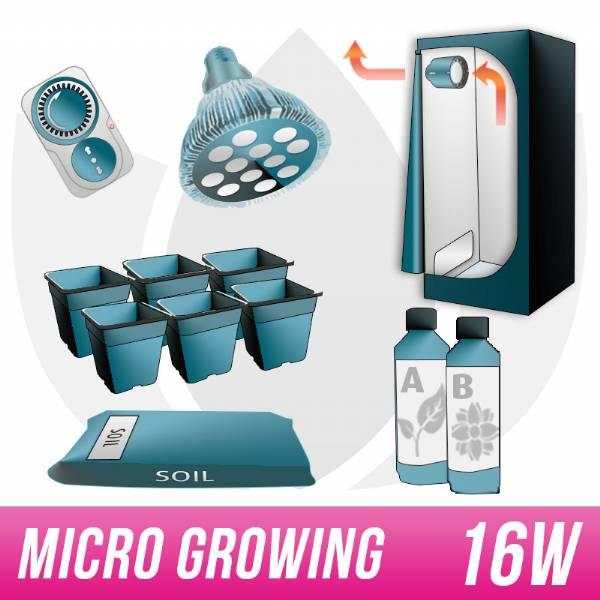 micro growing kit growbox par38 led agro. Black Bedroom Furniture Sets. Home Design Ideas