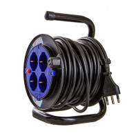 Cable Reels H05VV-F by Electraline  - 4 sockets - 15mt