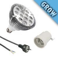 Sonlight PAR38 Grow Led lamp + E27 +  2mt Schuko cable