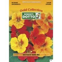 Dwarf Nasturtium (Tropaeolum majus) - Gold Seeds by Sementi Dotto 4.9gr