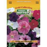Dwarf Petunia (Petunia hybrida) mix - Gold Seeds by Sementi Dotto 0.45gr