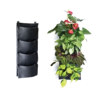 Vertical Garden Pocket with 4 Planters